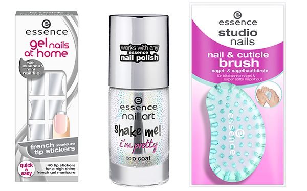essence gel nails at home french manicure tip stickers metallic silver