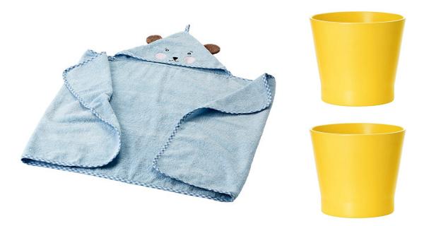 badkleedje en bloempot