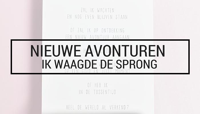 Welp Nieuwe avonturen ♥ Ik waagde de sprong • You Nailed It YQ-72