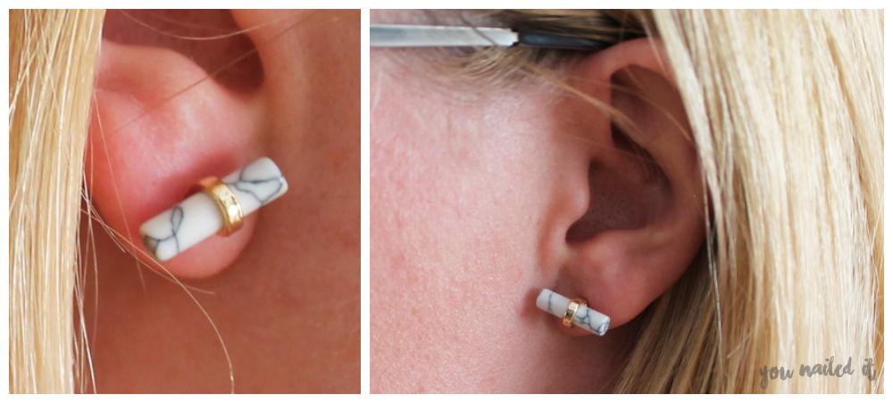 marble oorbellen