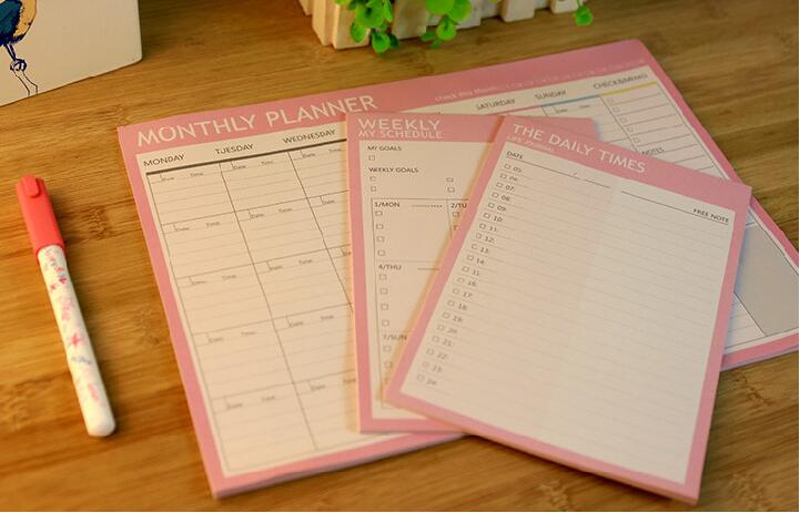 1-Piece-of-daily-weekly-monthly-planner-20-pages-notebook-kawaii-Agenda-office-stationary-supply-sckeduler