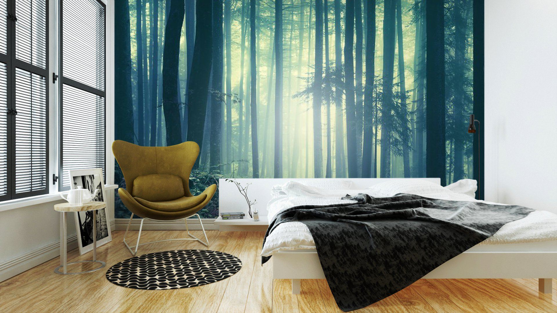 Fotobehang In Slaapkamer : Fotobehang in de slaapkamer